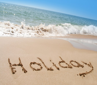 holiday in sand