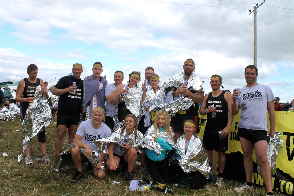 total warrior group photo after - ben