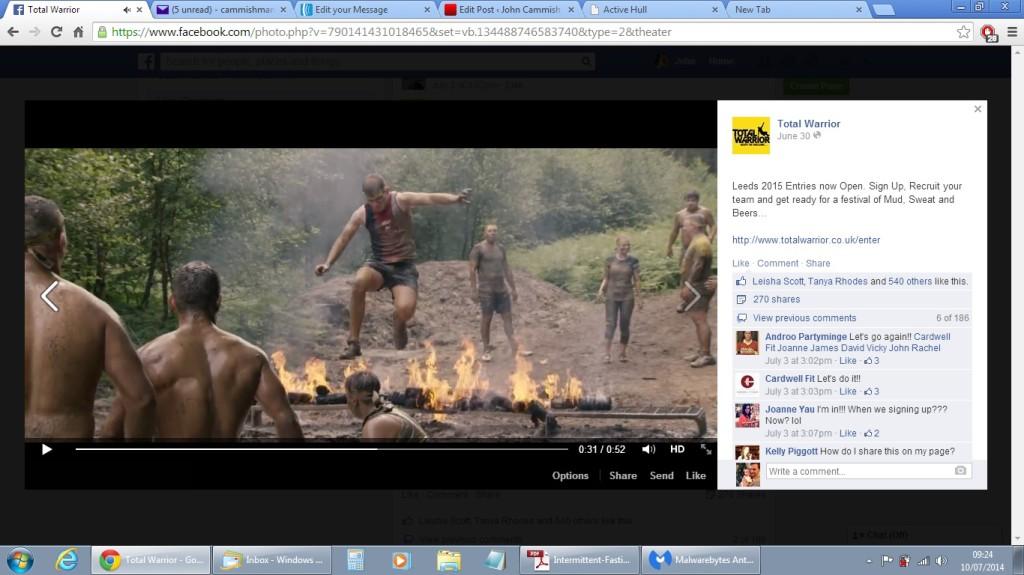 total warrior2014 human bbq jump vid