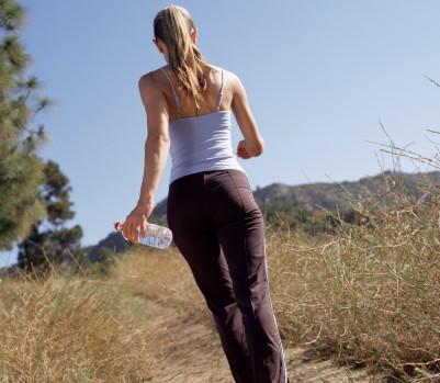 woman walking rear