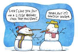 weight gain snowman
